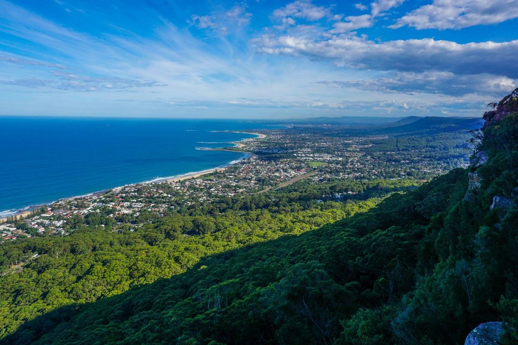 views of the city of Wollongong