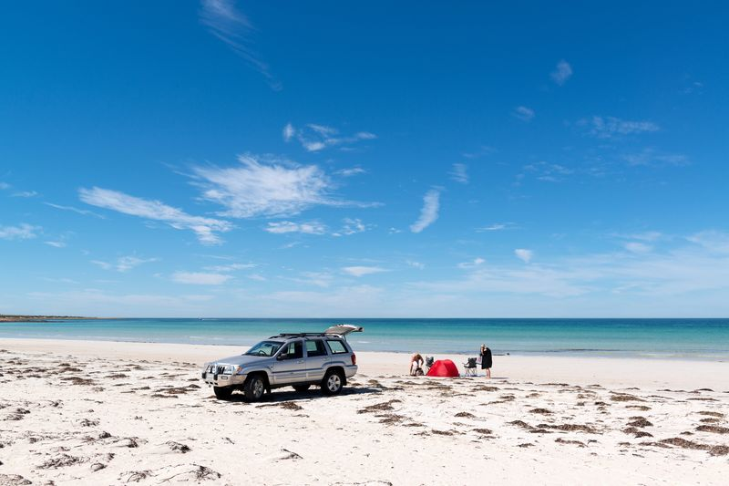 image of family weekend getaway by beach in Whyalla
